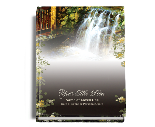 Serene Perfect Bind Memorial Funeral Guest Book 8x10