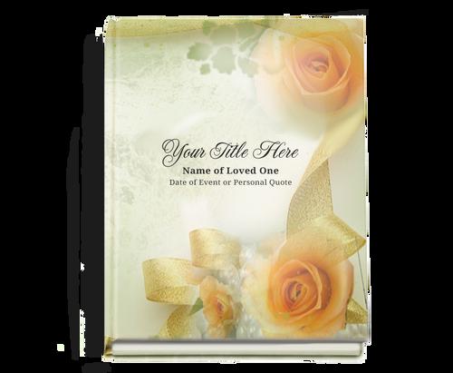 Rejoice Perfect Bind Memorial Funeral Guest Book 8x10