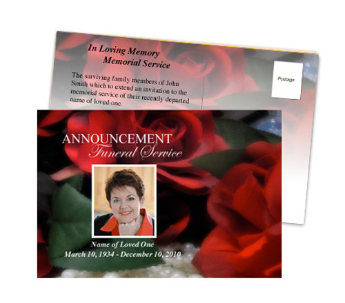 Elegance Funeral Announcement Template