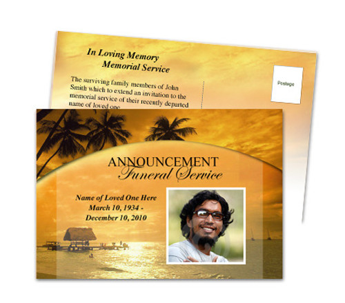 Island Funeral Announcement Template