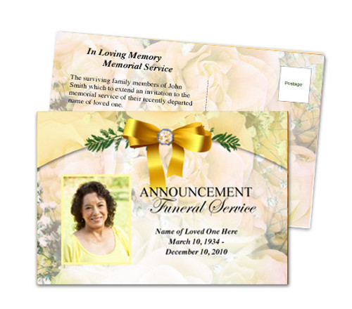 Joyful Funeral Announcement Template