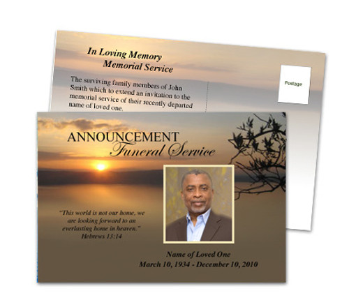 Kenya Funeral Announcement Template