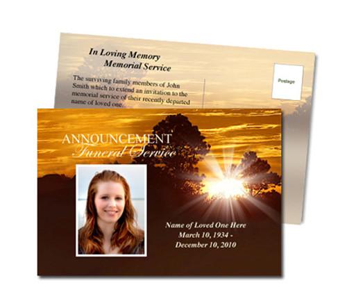 Renewal Funeral Announcement Postcard