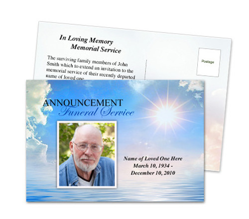 Starlight Funeral Announcement Template