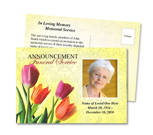 Sunny Funeral Announcement Template