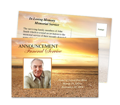 Timeless Funeral Announcement Template