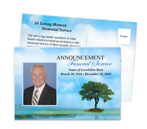 Treasure Funeral Announcement Template