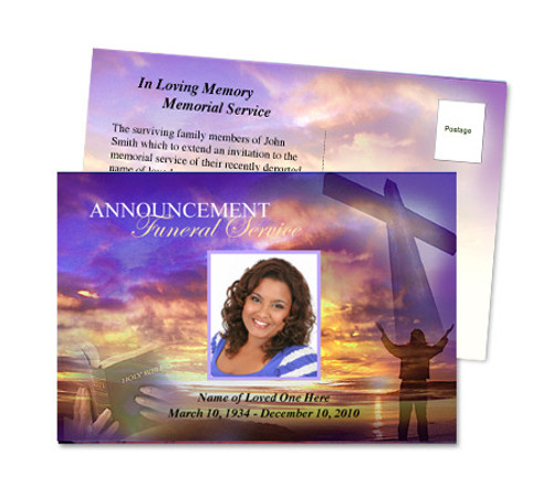 Worship Funeral Announcement Template