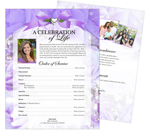 Amethyst Funeral Flyer Template