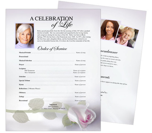 Beloved Funeral Flyer Template