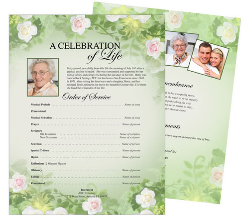 Garden Funeral Flyer Template