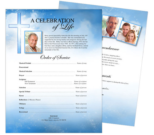 Heaven Funeral Flyer Template