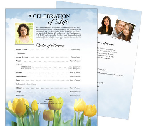 Inspire Funeral Flyer Template