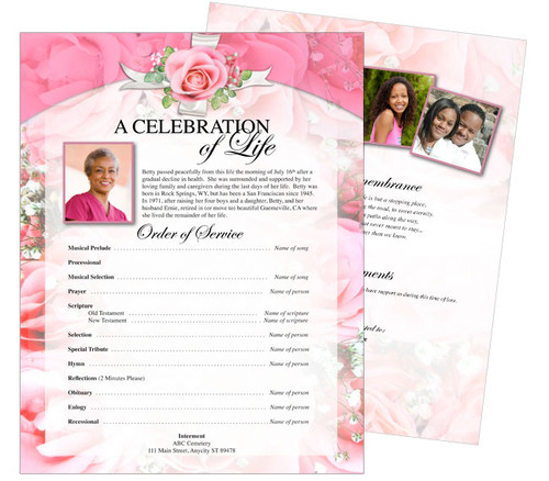 Precious Funeral Flyer Sheets Template