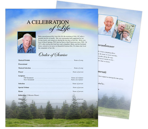 Promise Funeral Flyer Sheets Template
