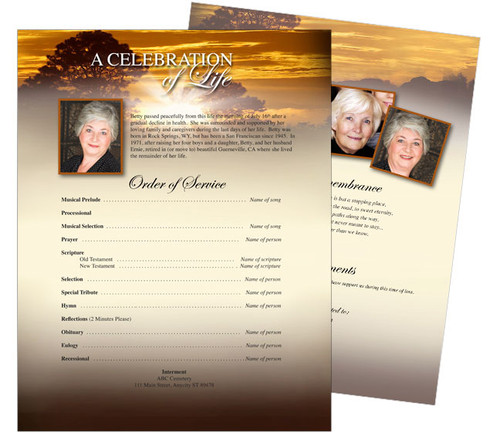 Renewal Funeral Flyer Sheets Template