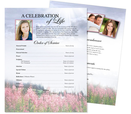 Seasons Funeral Flyer Sheets Template