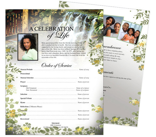 Serene Funeral Flyer Sheets Template