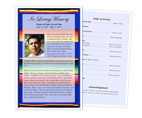 Acapulco Half Sheet Funeral Flyer Template