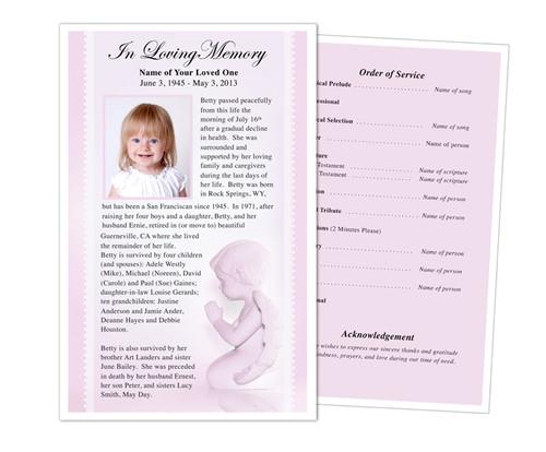 Angela Half Sheet Funeral Flyer Template
