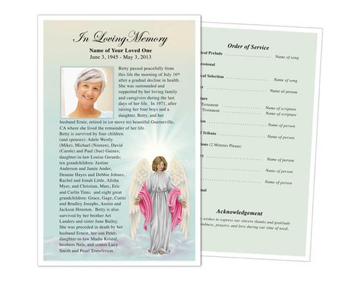 Angelina Half Sheet Funeral Flyer Template