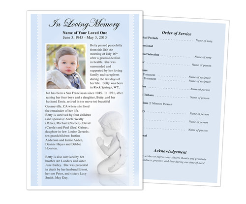 Angelo Half Sheet Funeral Flyer Template