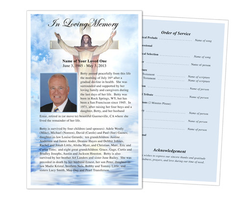 Assurance Half Sheet Funeral Flyer Template