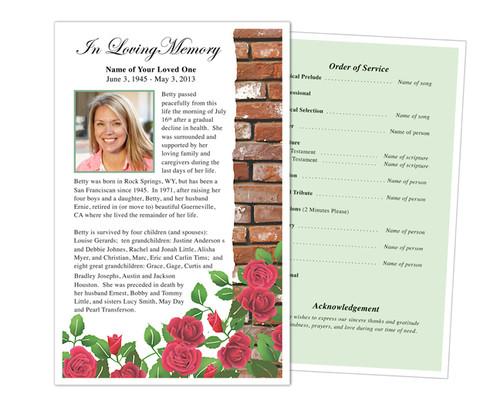 Austere Half Sheet Funeral Flyer Template
