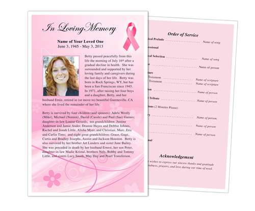 awareness funeral flyer template