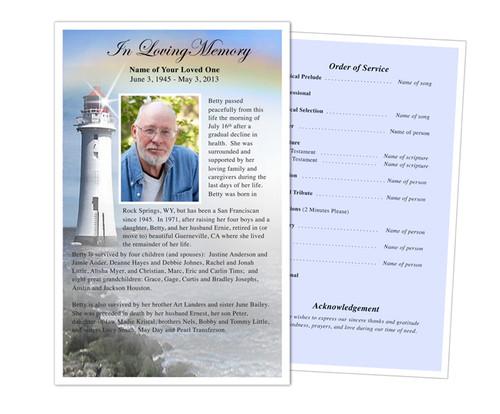 Beacon Funeral Flyer Half Sheets Template