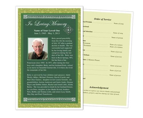 Celtic Funeral Flyer Half Sheets Template