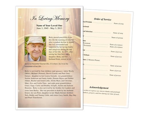 Crossing Funeral Flyer Half Sheets Template