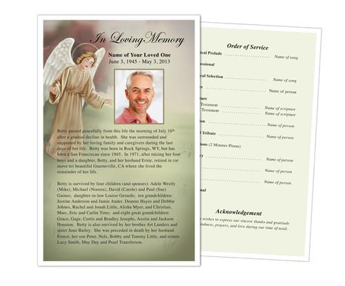 Delilah Funeral Flyer Half Sheets Template