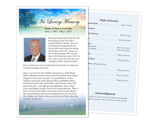 Destiny Funeral Flyer Half Sheets Template