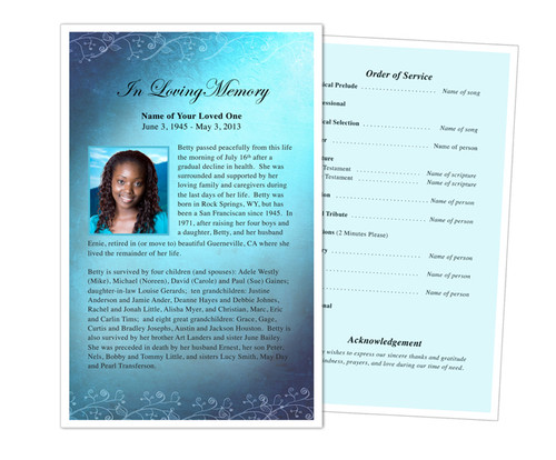Devotion Funeral Flyer Half Sheets Template