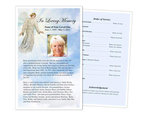 Devout Funeral Flyer Half Sheets Template