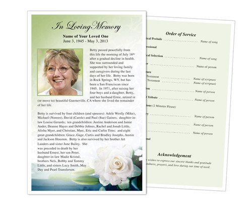 Divine Funeral Flyer Half Sheets Template
