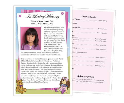 Doll Funeral Flyer Half Sheets Template