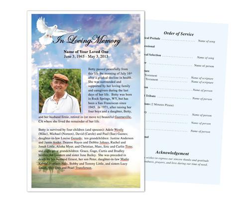 Gardener Funeral Flyer Half Sheets Template