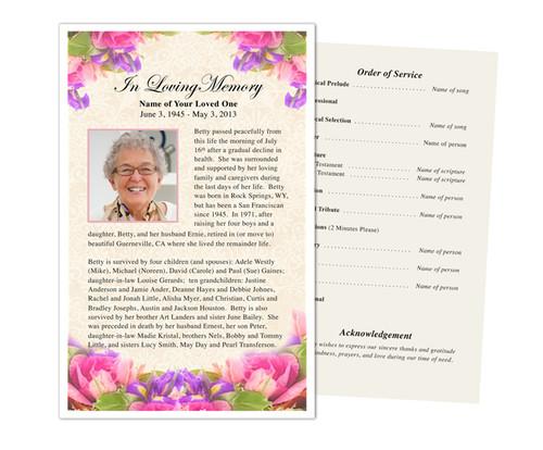 Golden Funeral Flyer Half Sheets Template