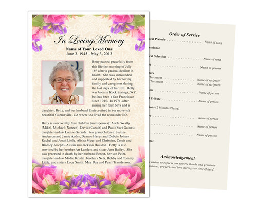Golden Funeral Flyer Half Sheets Template