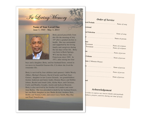 Kenya Funeral Flyer Half Sheets Template
