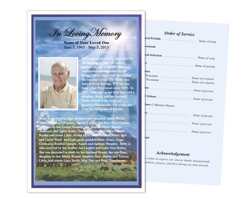 Outdoor Funeral Flyer Half Sheets Template