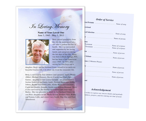 Patriot Funeral Flyer Half Sheets Template