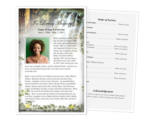 Serene Funeral Flyer Half Sheets Template