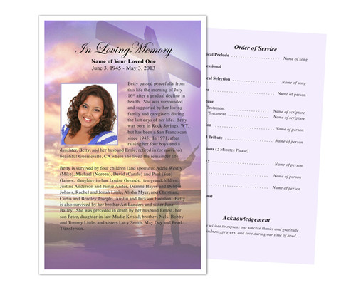 Worship Funeral Flyer Half Sheets Template