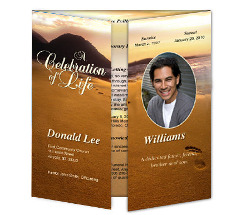 Footprints Gatefold Program Template