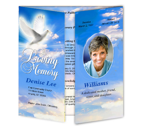 Peace Gatefold Program Template