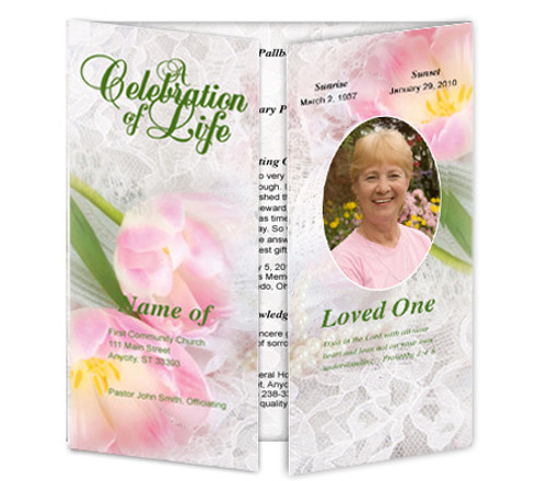 Pearls Gatefold Program Template