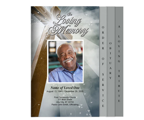 Eternal Legal 8-Sided Graduated Funeral Program Template